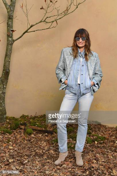 Caroline de Maigret attends the Chanel show as part of the Paris Fashion Week Womenswear Fall/Winter 2018/2019 at Le Grand Palais on March 6 2018 in...