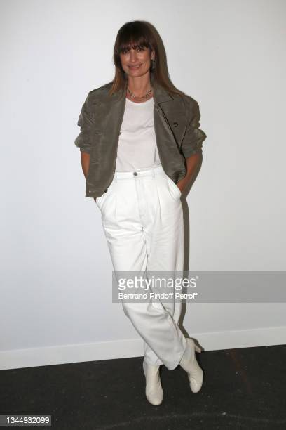 Caroline de Maigret attends the Chanel Womenswear Spring/Summer 2022 show as part of Paris Fashion Week on October 05, 2021 in Paris, France.