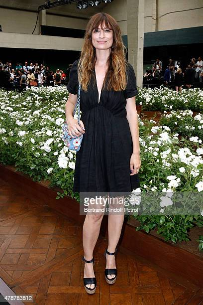 Caroline de Maigret attends the Dior Homme Menswear Spring/Summer 2016 show as part of Paris Fashion Week on June 27 2015 in Paris France