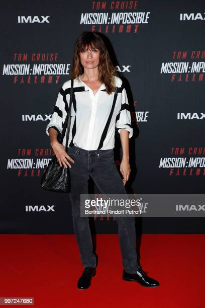 Caroline de Maigret attends the Global Premiere of 'Mission Impossible Fallout' at Palais de Chaillot on July 12 2018 in Paris France