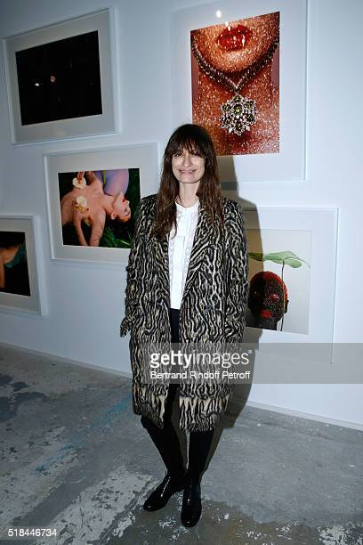 Caroline de Maigret attends the 'Guy Bourdin Portraits' Exhibition Opening and Cocktail at Studio des Acacias on March 31 2016 in Paris France