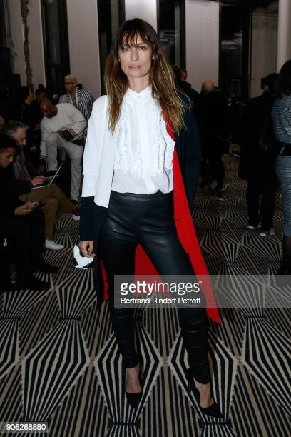 Caroline de Maigret attends the Haider Ackermann Menswear Fall/Winter 20182019 show as part of Paris Fashion Week on January 17 2018 in Paris France