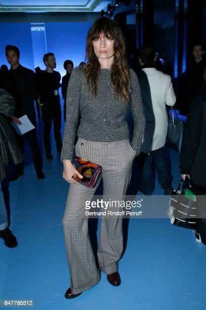 Caroline de Maigret attends the Haider Ackermann show as part of the Paris Fashion Week Womenswear Fall/Winter 2017/2018 on March 4 2017 in Paris...