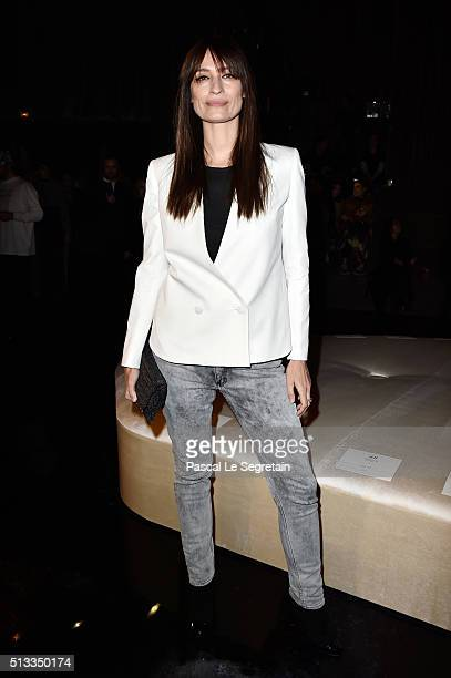 Caroline de Maigret attends the HM show as part of the Paris Fashion Week Womenswear Fall/Winter 2016/2017 on March 2 2016 in Paris France