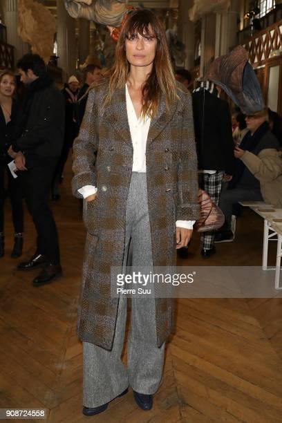 Caroline De Maigret attends the Iris Van Herpen Haute Couture Spring Summer 2018 show as part of Paris Fashion Week on January 22, 2018 in Paris,...