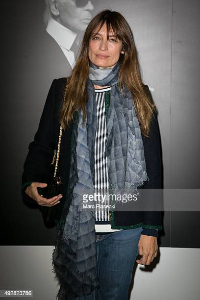 Caroline de Maigret attends the 'Karl Lagerfeld a visual journey' photographs exhibition opening at La Pinacotheque on October 15 2015 in Paris France