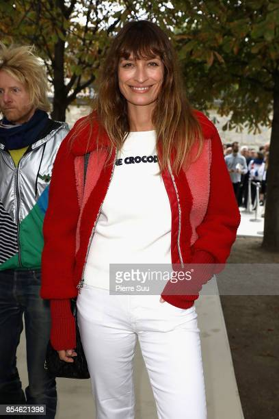 Caroline de Maigret attends the Lacoste show as part of the Paris Fashion Week Womenswear Spring/Summer 2018 on September 27 2017 in Paris France