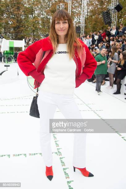 Caroline de Maigret attends the Lacoste show as part of the Paris Fashion Week Womenswear Spring/Summer 2018 at on September 27 2017 in Paris France