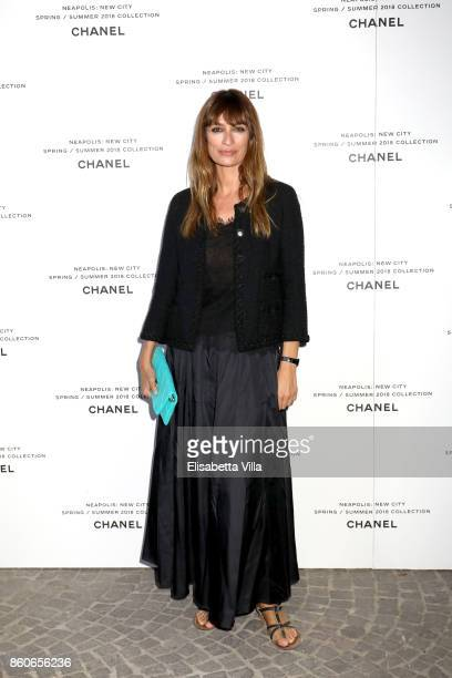 Caroline de Maigret attends the launch of Lucia Pica's Chanel SpringSummer 2018 Make up Collection on October 12 2017 in Naples Italy
