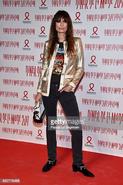 Caroline de Maigret attends the Sidaction Gala Dinner 2017 Haute Couture Spring Summer 2017 show as part of Paris Fashion Week on January 26 2017 in...