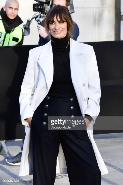 Caroline de Maigret is seen arriving at Chanel Fashion show during Paris Fashion Week Haute Couture Spring/Summer 2018 on January 23 2018 in Paris...