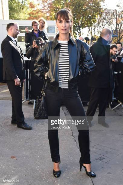 Caroline de Maigret is seen arriving at Chanel show during Paris Fashion Week Womenswear Spring/Summer 2018on October 3 2017 in Paris France