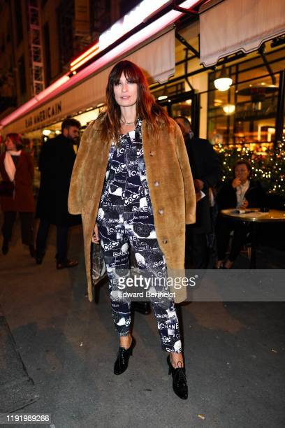 Caroline de Maigret is seen during the Chanel Metiers d'art 20192020 dinner at La Coupole restaurant on December 04 2019 in Paris France