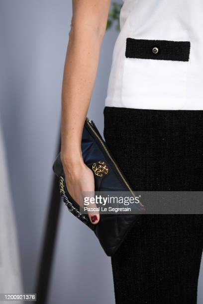 Caroline de Maigretbag detail attends the Chanel Haute Couture Spring/Summer 2020 show as part of Paris Fashion Week at Grand Palais on January 21...