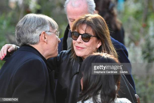 Caroline de Monaco attends the Chanel Haute Couture Spring/Summer 2020 show as part of Paris Fashion Week at Grand Palais on January 21 2020 in Paris...