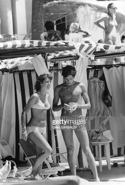 Caroline de Monaco à la piscine du Palm Beach 13 juillet 1973 Monaco