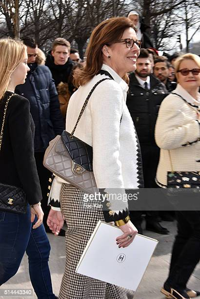 Caroline de Monaco leaves the Chanel show as part of the Paris Fashion Week Womenswear Fall/Winter 2016/2017 on March 8 2016 in Paris France