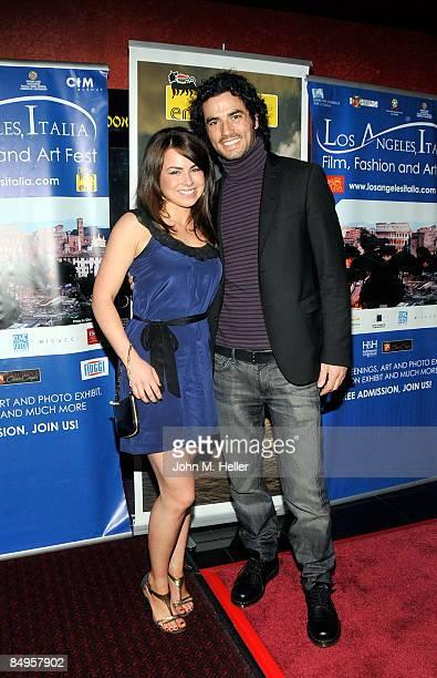 Caroline Desmarais and Antonio Cupo attend the 4th Annual Los Angeles Italia Film Fashion And Art Festival at the Mann Chinese 6 Theaters at...