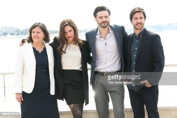 Caroline Dhavernas and Richard Short attend 'Mary Kills People' Photocall during MIPTV 2017 on April 3 2017 in Cannes France