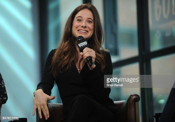 Caroline Dhavernas attends Build Presents Caroline Dhavernas and Adam Keleman discussing 'Easy Living' at Build Studio on September 15 2017 in New...
