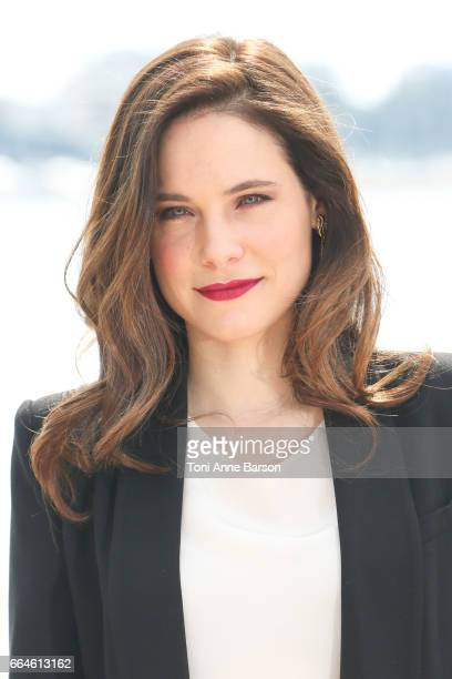 Caroline Dhavernas attends 'Mary Kills People' Photocall during MIPTV 2017 on April 3 2017 in Cannes France