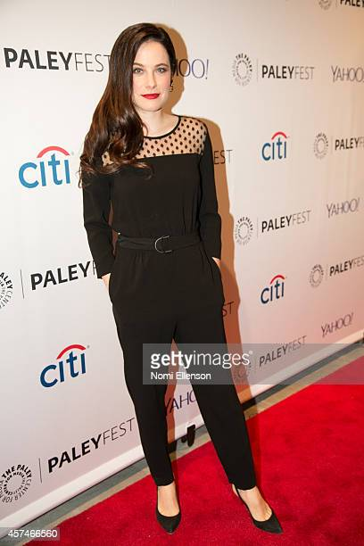 Caroline Dhavernas attends the 2nd Annual Paleyfest New York Presents 'Hannibal' at Paley Center For Media on October 18 2014 in New York New York
