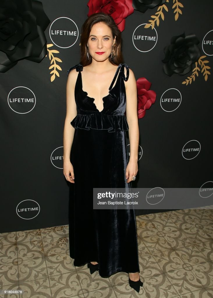 Caroline Dhavernas attends the Lifetime hosts Anti-Valentine's Bash for Premieres of 'UnREAL' and 'Mary Kills People' on February 13, 2018 in West Hollywood, California.