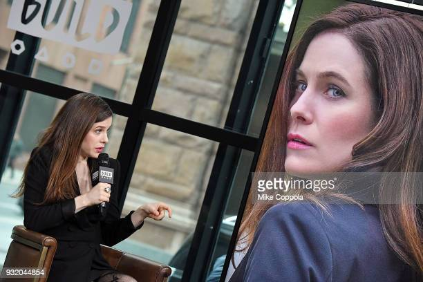Caroline Dhavernas speaks at the Build Studio on March 14 2018 in New York City