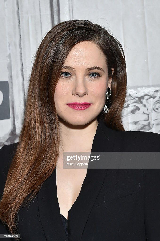 Caroline Dhavernas speaks at the Build Studio on March 14, 2018 in New York City.