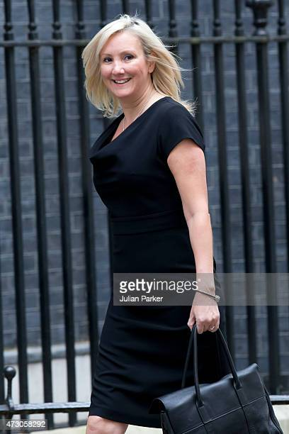 Caroline Dinenage British Parliamentary Under Secretary of State Ministry of Justice and Education attends the first Conservative Cabinet meeting of...