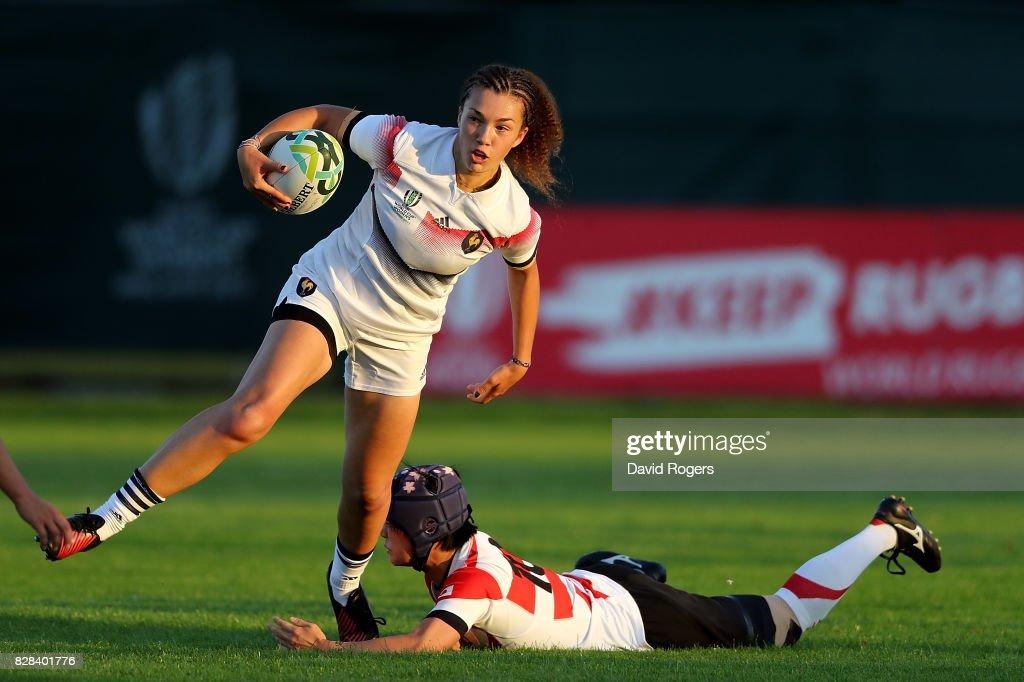 France v Japan - Women's Rugby World Cup 2017 : Photo d'actualité