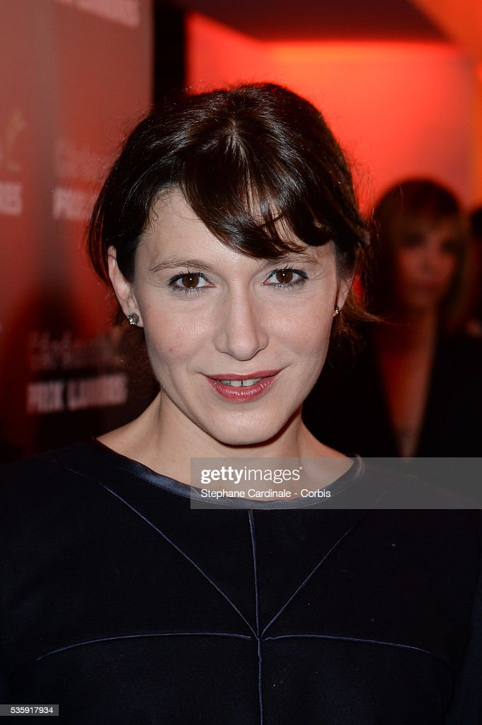 Caroline Ducey attends 'Les Prix Lumieres 2014' Cinema Awards, in Paris.