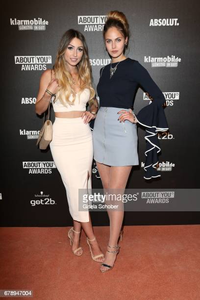 Caroline Einhoff and Elena Carriere during the ABOUT YOU AWARDS at the Mehr Theater in Hamburg on May 4 2017 in Hamburg Germany