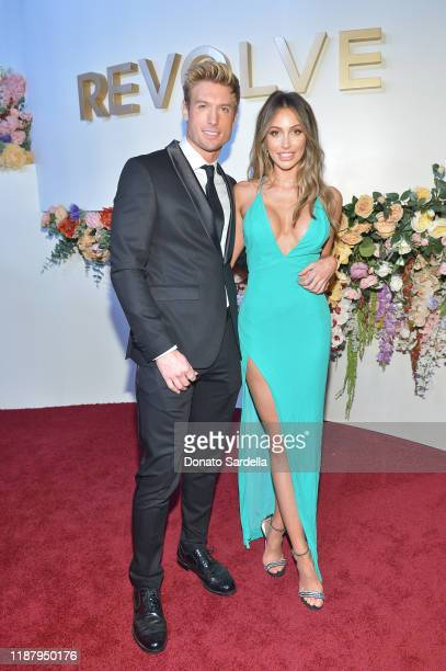 Caroline Einhoff and guest attend the #REVOLVEawards 2019 at Goya Studios on November 15 2019 in Hollywood California