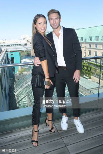 Caroline Einhoff and Jeff Kassia attends the Thomas Sabo Press Cocktail at China Club Berlin on July 4 2018 in Berlin Germany