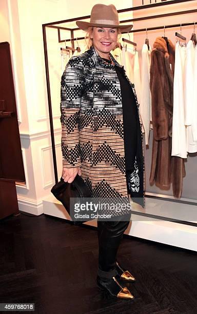 Caroline Elleke Stadler poses during MaryKate Olsen and Ashley Olsen present their collection 'The Row' at Marion Heinrich on November 20 2014 in...