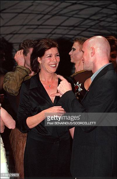 "Caroline, Ernst August and Charlotte at Monaco ballet premiere ""oeil pour oeil"" in Monaco City, Monaco on April 14, 2001 - Caroline and Jean..."