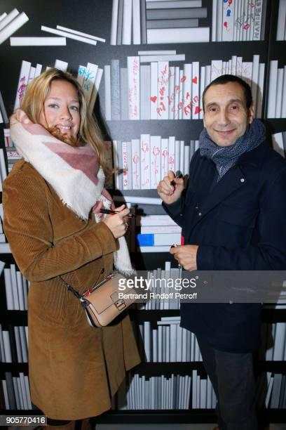 Caroline Faindt and Zinedine Soualem attend the Manifesto Sonia Rykiel 5Oth Birthday Party at the Flagship Store Boulevard Saint Germain des Pres on...
