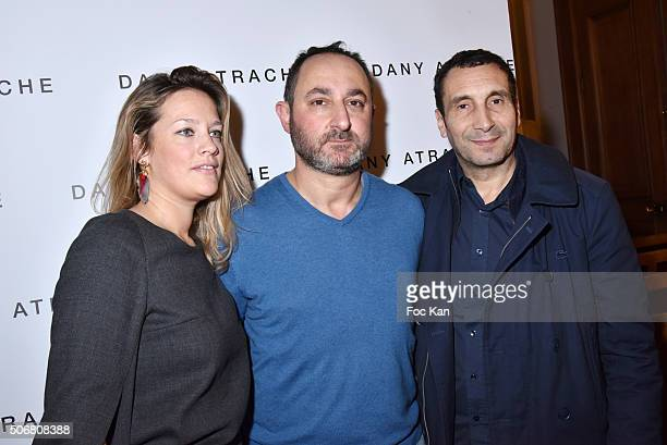 Caroline Faindt Zinedine Soualem and Dany Atrache attend the Dany Atrache Spring Summer 2016 show as part of Paris Fashion Week on January 25 2016 in...