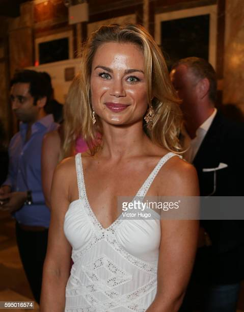 Caroline Fare attends Resident Magazine Celebration with August Cover Star Jean Shafiroff at Chelsea Station on August 24 2016 in New York City