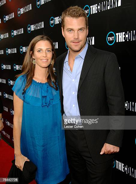 Caroline Fentress and actor Chris O'Donnell arrive to the screening of TNT's The Company at The Majestic Crest Theater on July 16 2007 in Westwood...