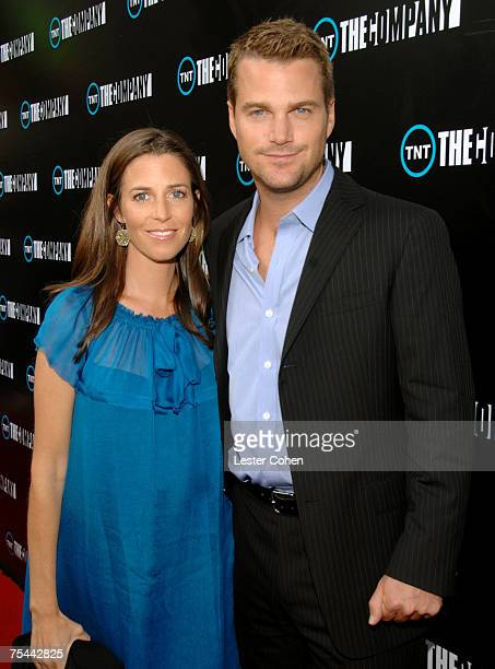 """Caroline Fentress and actor Chris O'Donnell arrive to the screening of TNT's """"The Company"""" at The Majestic Crest Theater on July 16, 2007 in..."""