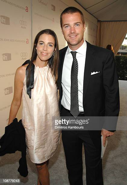 Caroline Fentress and Chris O'Donnell at Elton John AIDS Foundation Oscar Party Sponsored by Audi