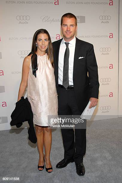 Caroline Fentress and Chris O'Donnell attend 15th Annual Elton John Aids Foundation Party to Celebrate the Academy Awards at Pacific Design Center on...