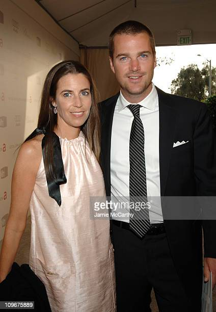 Caroline Fentress and Chris O'Donnell during 15th Annual Elton John AIDS Foundation Oscar Party - Sponsored by Chopard at Pacific Design Center in...