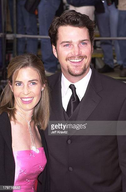 Caroline Fentress and Chris O'Donnell during 2001 Screen Actors Guild Awards at Shrine Auditorium in Los Angeles, California, United States.