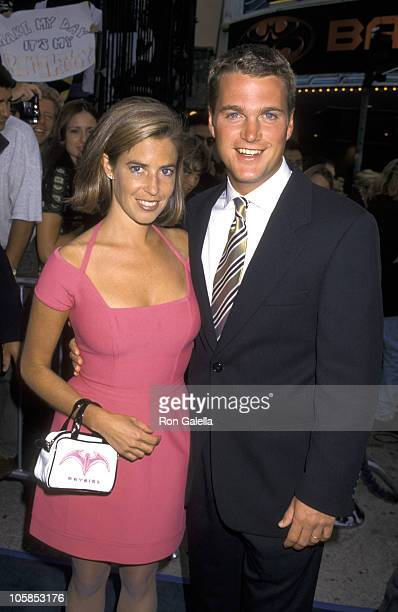 Caroline Fentress and Chris O'Donnell during Batman Robin Los Angeles Premiere at Mann's Bruin Theater in Westwood California United States