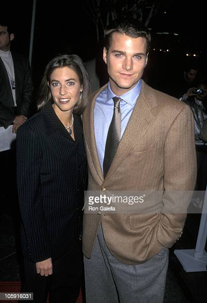 Caroline Fentress and Chris O'Donnell during In Love and War Los Angeles Premiere at Los Angeles in Los Angeles California United States