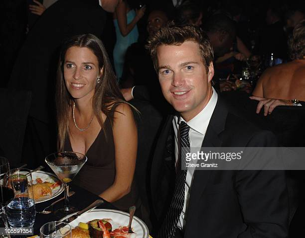Caroline Fentress and Chris O'Donnell during The 57th Annual Emmy Awards Governors Ball at Shrine Auditorium in Los Angeles California United States