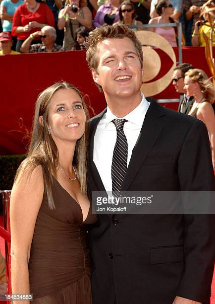 Caroline Fentress and husband Chris O'Donnell during 57th Annual Primetime Emmy Awards - Arrivals at The Shrine in Los Angeles, California, United...